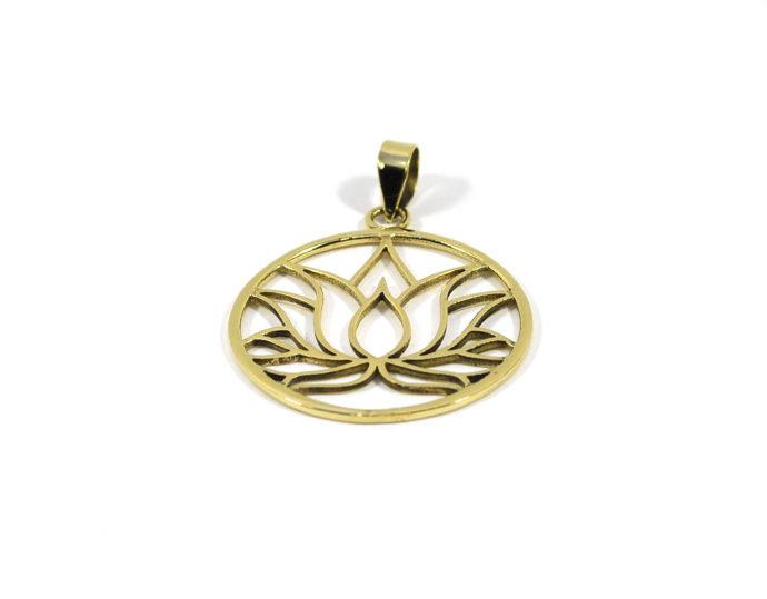 colgante laton flor loto