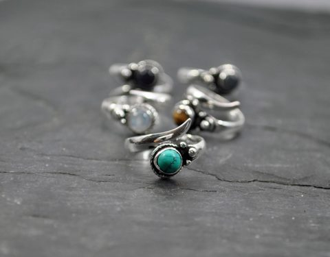 Small ring with gemstone