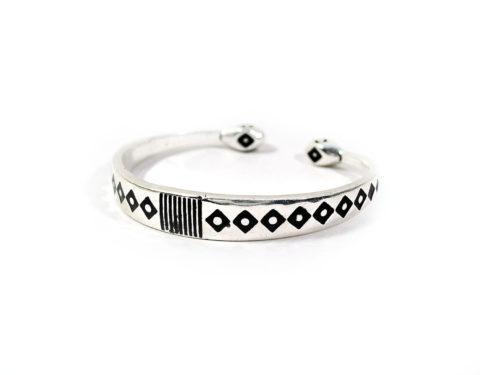wide silver bracelet