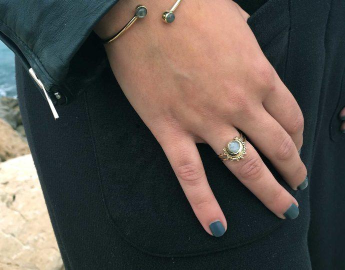 Moonstone ring model