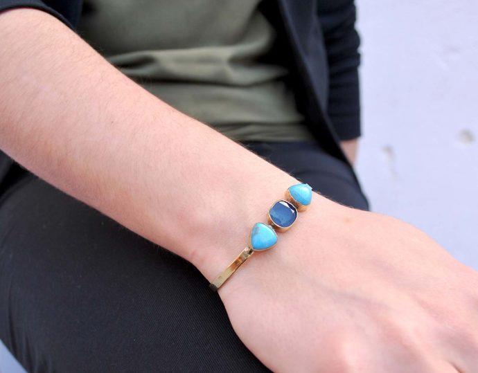 pulsera piedras azules