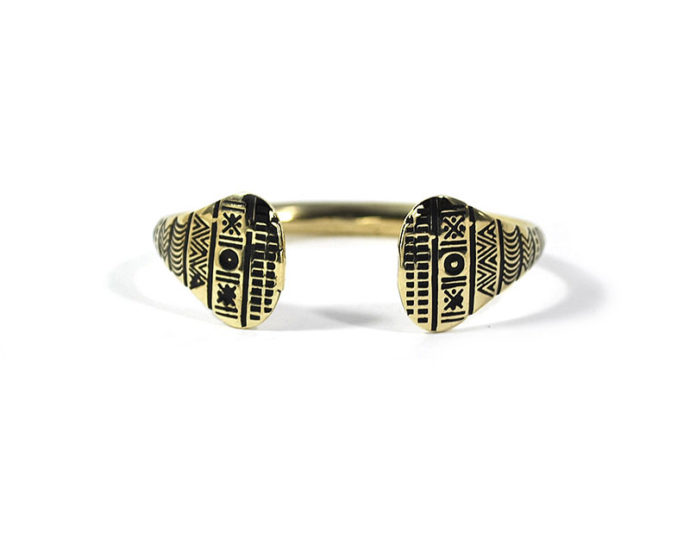 rigi brass etnic bracelet