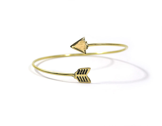 brass arrow bracelet