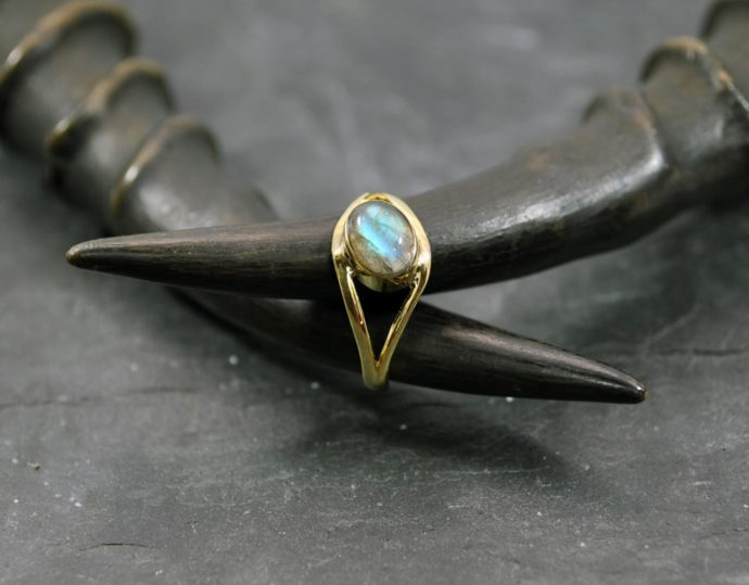 small labradorite ring