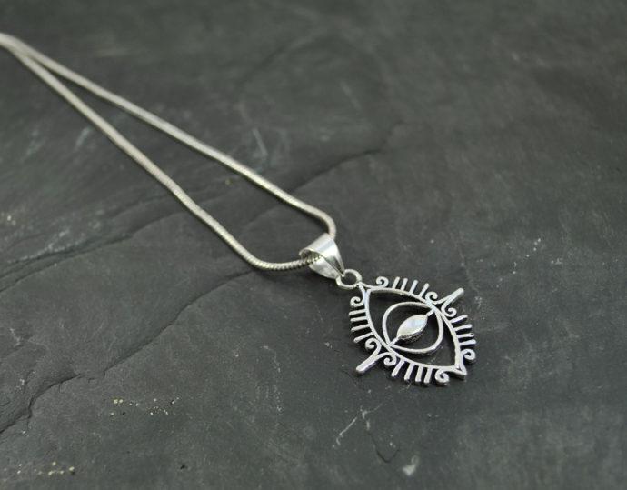eye silver pendant