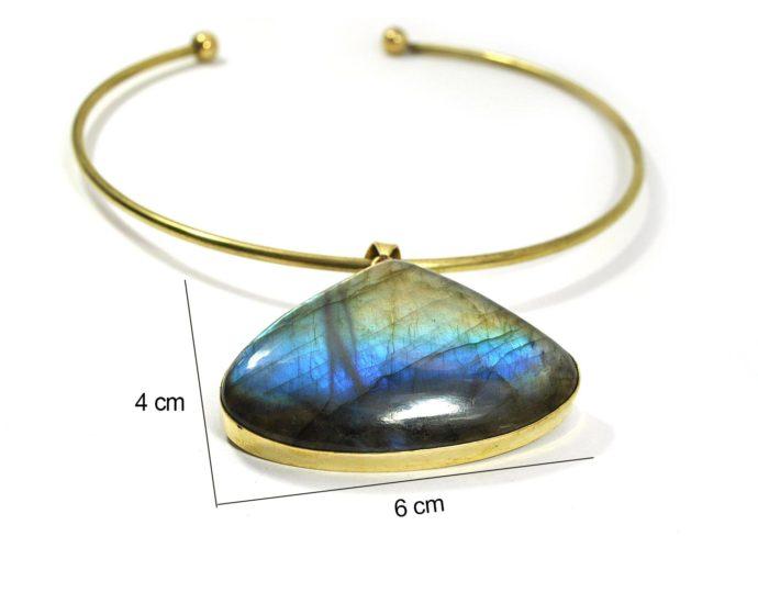 triangle labradorite pendant