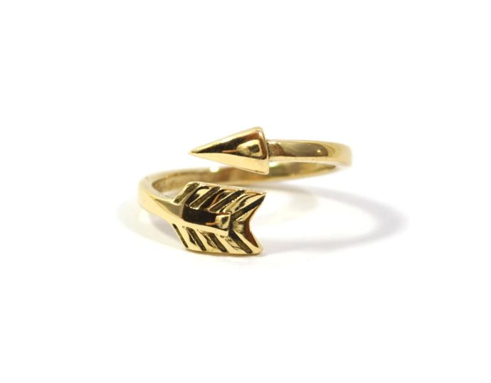 Brass arrow ring