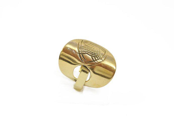 Brass plate ring