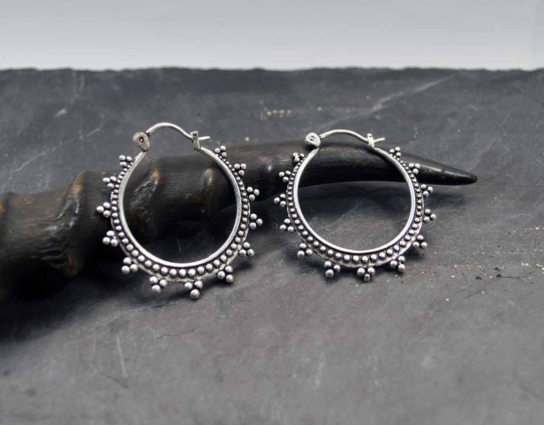 comprar popular 03d38 9dfa3 Pendientes aro con diseño de burbujas   Bubble design hoop earrings