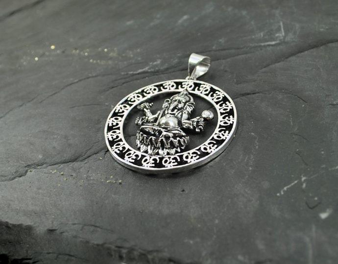 ganesh silver pendant