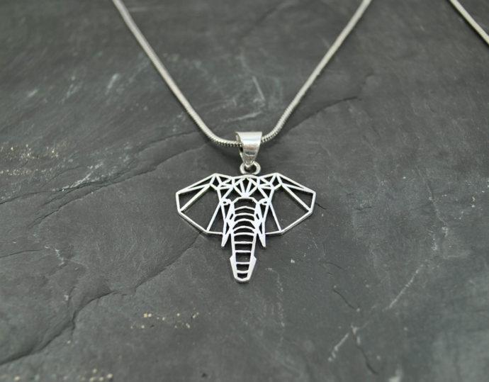 silver elephant pendant