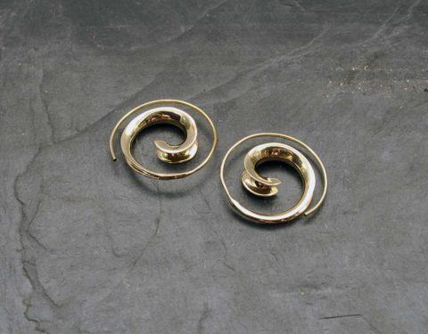 pendientes espiral sencillos