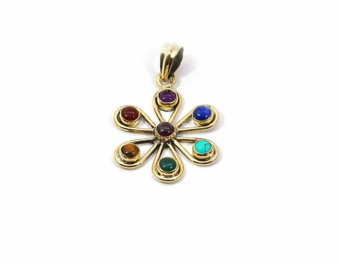 colgante amuleto chakras