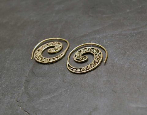 aros dorados espiral
