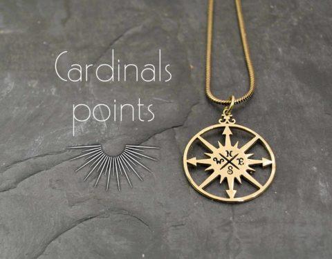 colgante puntos cardinales