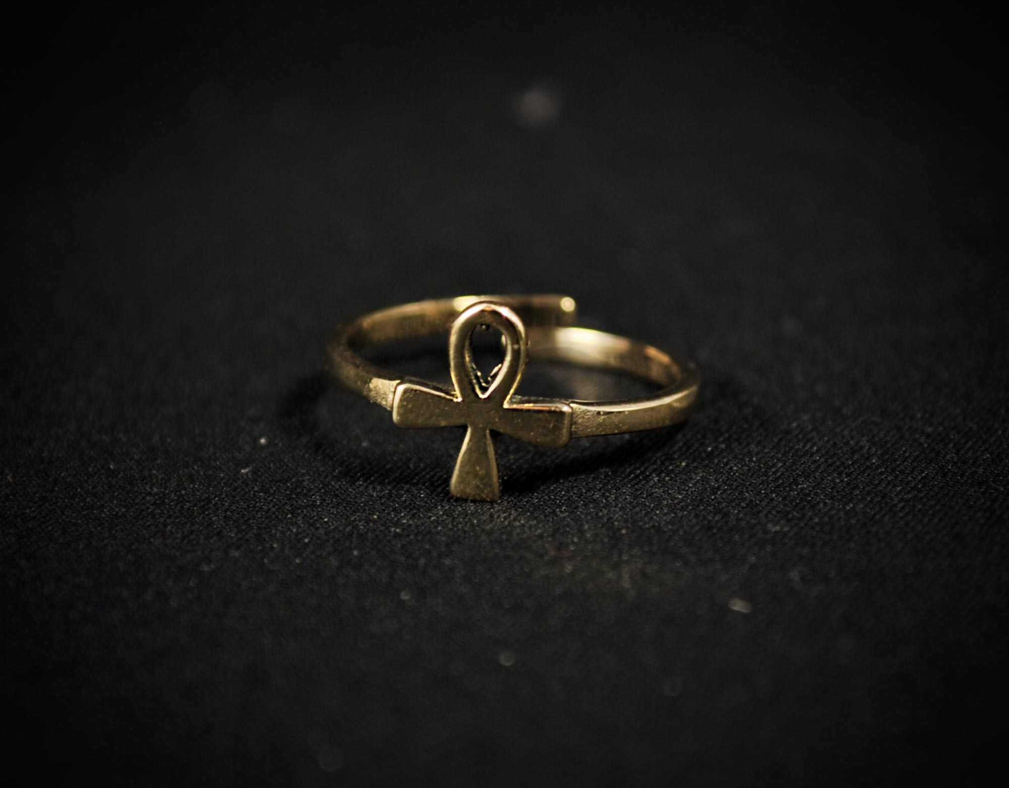 brass egyptian ring