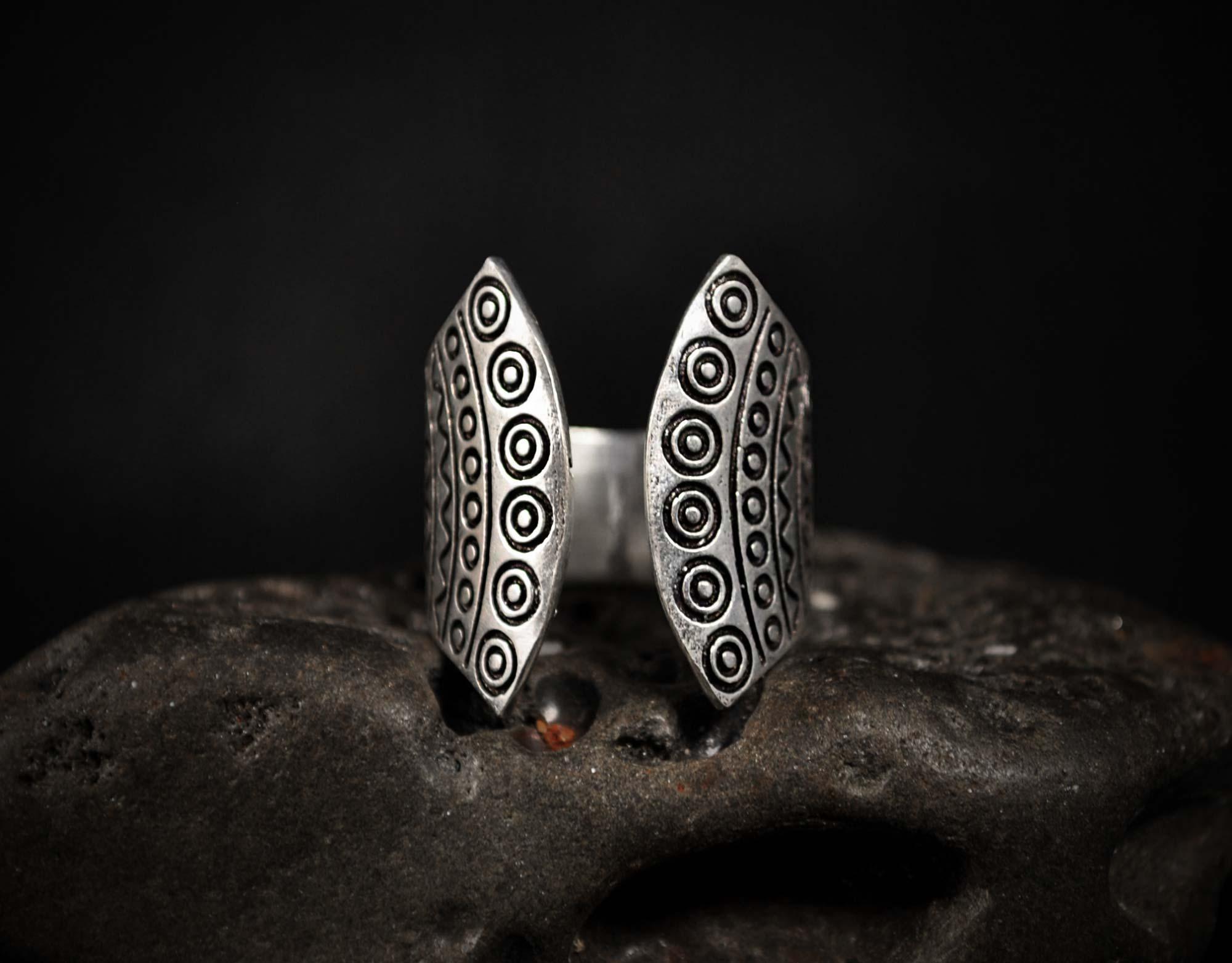 silver hippie ring